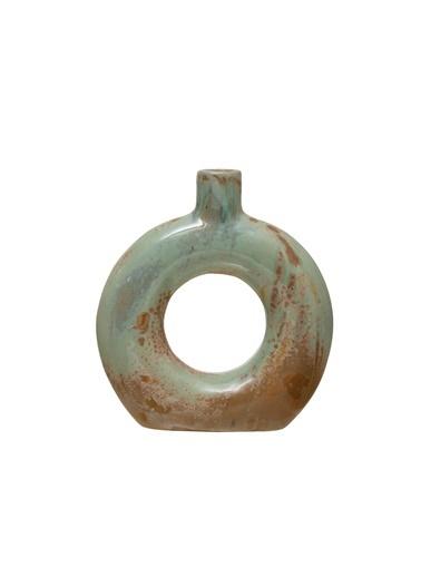Warm Design Dekoratif Porselen Vazo Yeşil